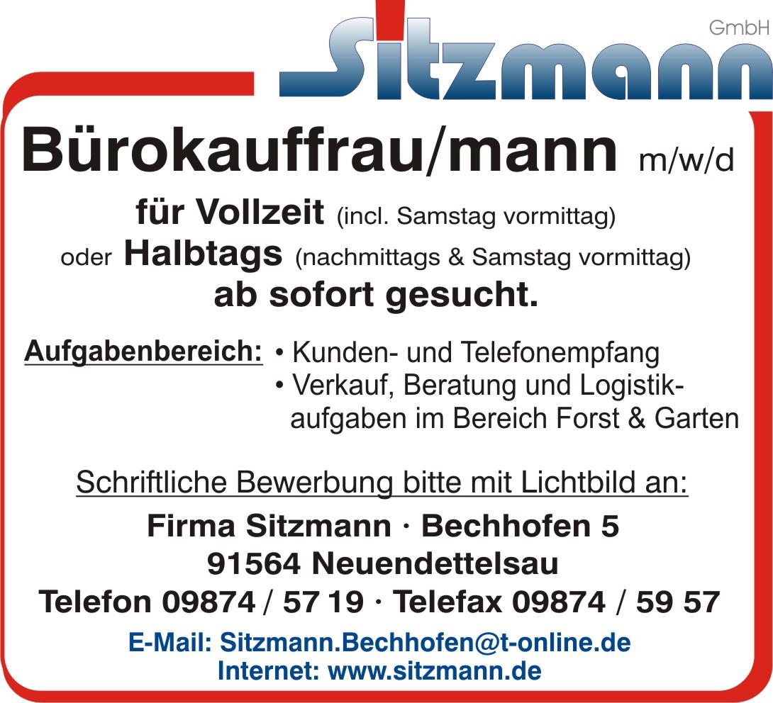 Stellenanzeige Bürokauffrau Mwd